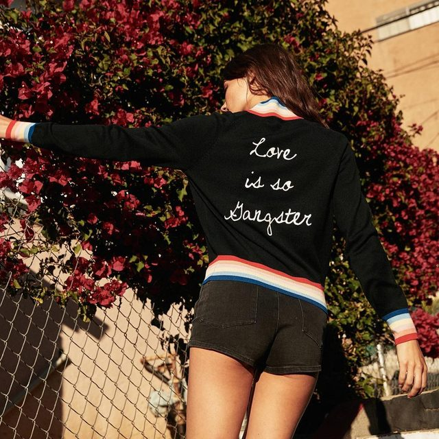 Keep it gangster ❤️ Tap to shop our new favorite bomber #spreadlove #raiseyourvibration