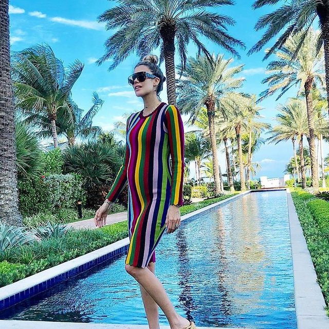 When sun meets the rainbow 🌈☀️ Shop 30% off MILLY.com #rainbow #stripes #colorlover