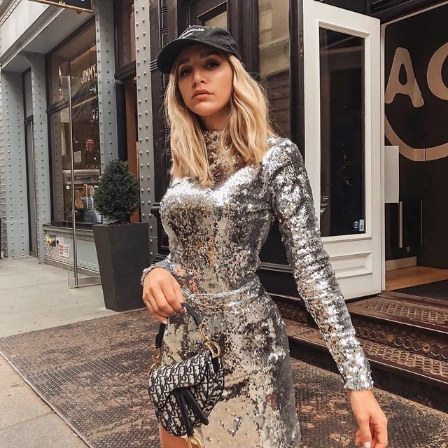 Sequins are a girl's best friend ✨ @cristinamonti #sequins #NYC #MILLYmoment