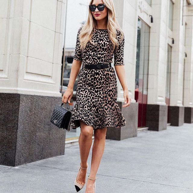 Feeling fierce in cheetah 🐆 #cheetah #knit #streetstyle