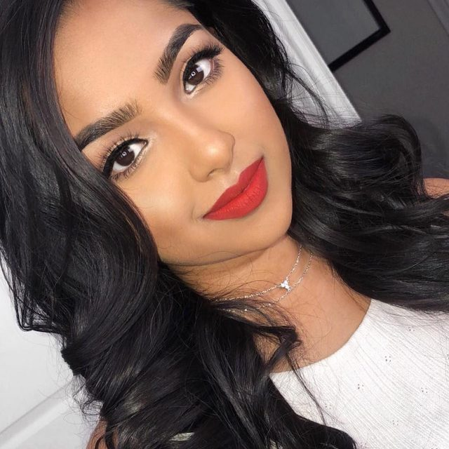 Pop on a pair of #VelourLashes with a bold red lip for a flirty, easy to glam look. 💋  @kaysha_mua in our Serendipity lashes - available exclusively at velourlashes.com #VelourLashes #torontomua #liveinlashes