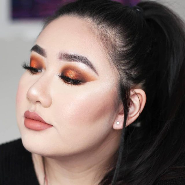 When your look is so sharp, it could cut a bih 🔪 @crystalwangg completed this copper monochromatic look with our Dream Girl lashes. What're your Velour faves? Let us know! #VelourLashes #canadianbeauty #torontomua  #makeupjunkie #wakeupandmakeup #liveinlashes