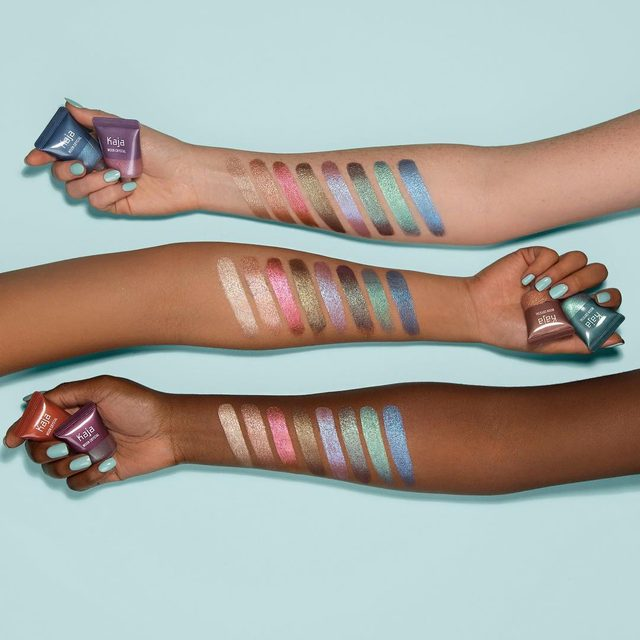 Your eyeshadow rotation just got a stellar upgrade ✨*NEW* Moon Crystal Sparkling Eye Pigments come in 8 shades, ranging from your staple neutrals to your eye-catching bolds. Which shade is your favorite? (L to R: Luminary, Goddess, Rose Quartz, Tiger's Eye, Mystical, Magic, Cosmic, Dark Matter) Make them all yours @Sephora #KajaBeauty #KajaMoonCrystal #Sephora #NewatSephora