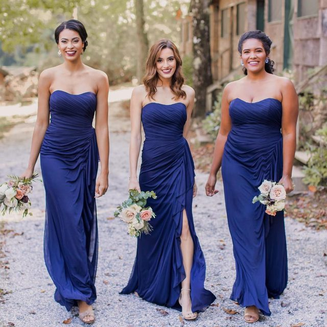 We love a matching #IDoCrew - what do you think about this navy look? ✨ #kleinfeldbridalparty