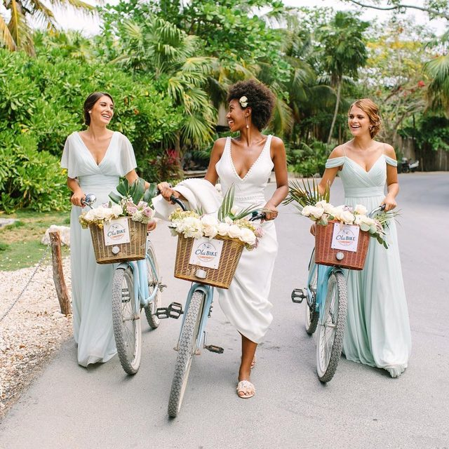 Making moves with your #idocrew ✨  We're so happy to announce our newest editorial #kleinfeldxtulum is finally here! 🌴 Click to shop these stunning looks☀️ | Photo: @jacquicole | Planning & Production: @tropical_os | Floral Design: @vanessajaimesfloraldesign | Bridesmaid Fashion: #kleinfeldbridalparty | Wedding Dress: @KleinfeldBridal | H&MU @stylingtrio | Video: @lerevefilms | #KleinfeldXTulum