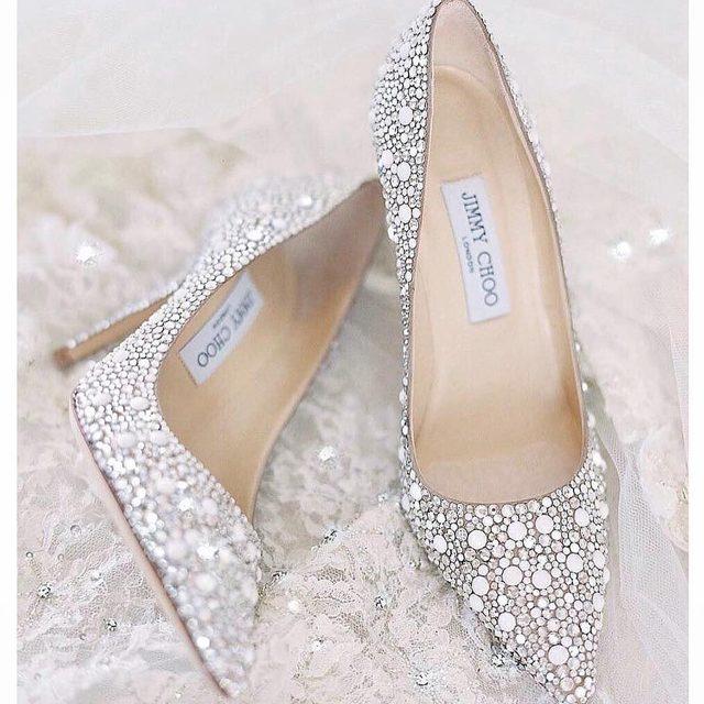 Silver Wedding Shoes.Bridal Boutique Jimmy Choo