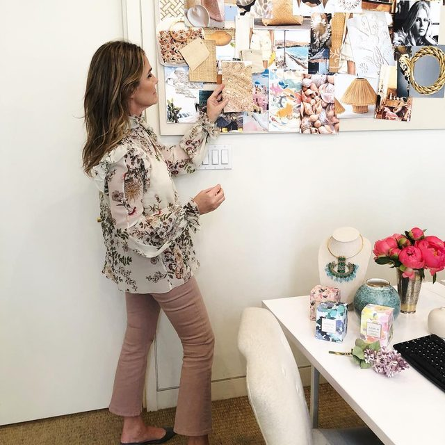 Working on our summer mood board before heading to Miami in my AERIN x @frame jeans... Our exclusive collaboration is now back in stock on AERIN.com... Link in bio to shop #FriendsOfAERIN