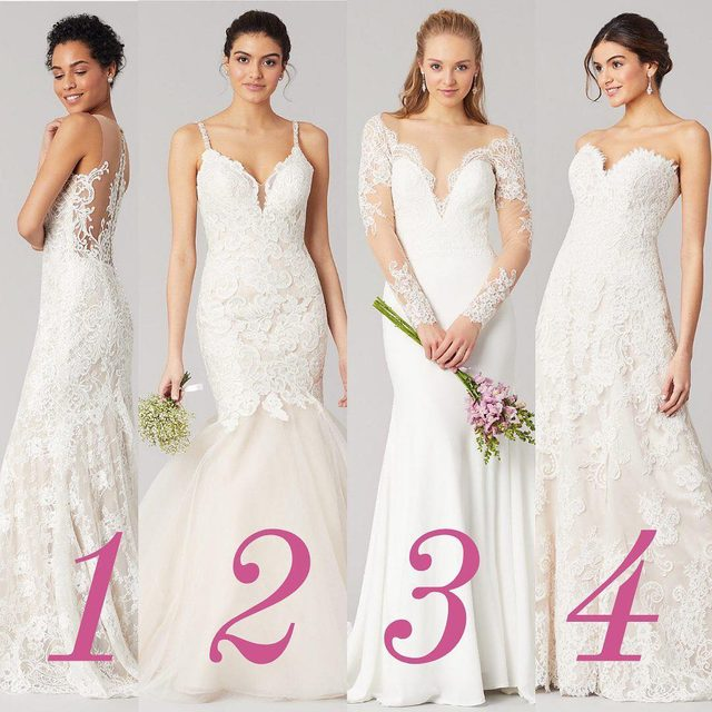 Obsessed with lace? Us too. Which one of these romantic wedding gowns would you pick? Tell us below!