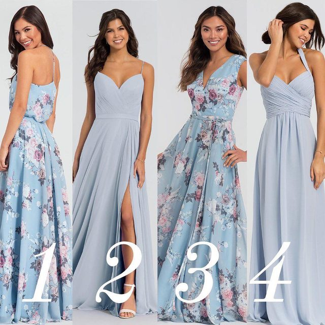 Mix and match some of your favorite patterns with similar colors 💙 We love the way this #bridetribe will look!
