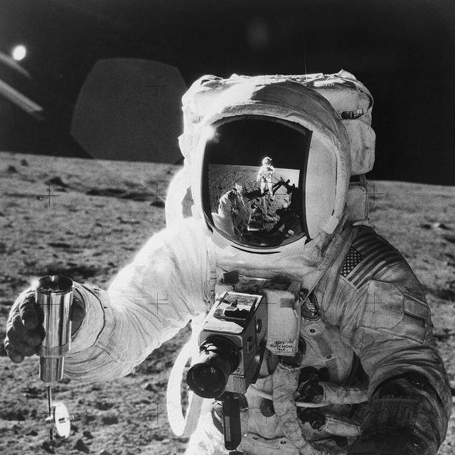 """""""The moon is hot again."""" So says Jack Burns, the director of the Network for Exploration and Space Science. The world seems to agree: Israel recently crash-landed a spacecraft there, China's vehicle Chang'e-4 alighted on the far side, and India's Chandrayaan-2 moon lander is expected to take off later this year. Who will be the first to develop the """"eighth continent""""? Tap the link in our bio for more on the race to develop the moon. Photograph by Bettmann / Getty."""