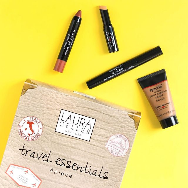 Where's your next getaway? Comment below👇🏼Wherever it is, we've got you covered with our Travel Essentials 4 piece kit including: bronze-tinted primer, concealer, volumizing mascara and lip crayon.  #travel #travelessentials #kit #kits #wanderlust #vacay #vacation #getaway #trip #makeup #travelmakeup