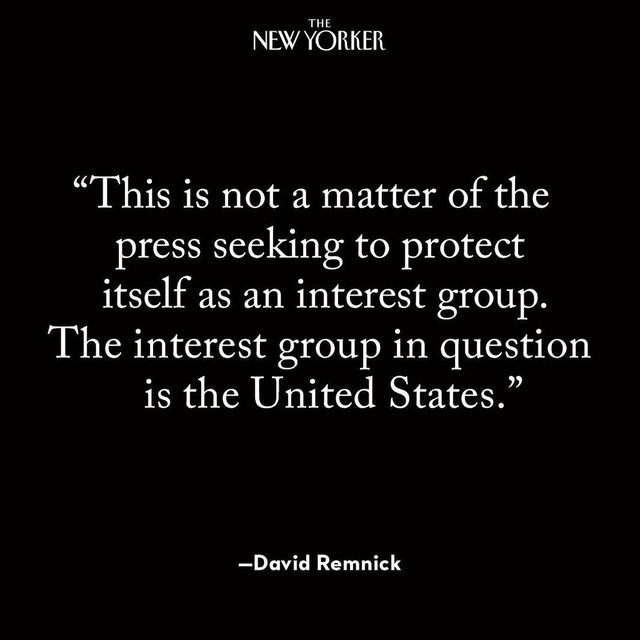 In honor of #WorldPressFreedomDay, tap the link in our bio to revisit David Remnick's 2018 essay on why the refusal to bend to President Trump's assault on the press is essential to the future of American democracy.