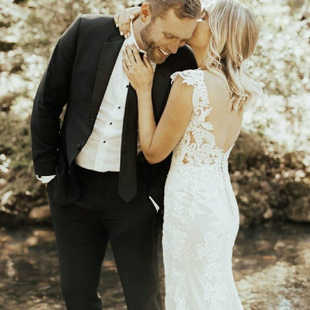"""When someone else's happiness is your happiness, that is love."" – Lana Del Rey (tap to shop the Milano Gown 