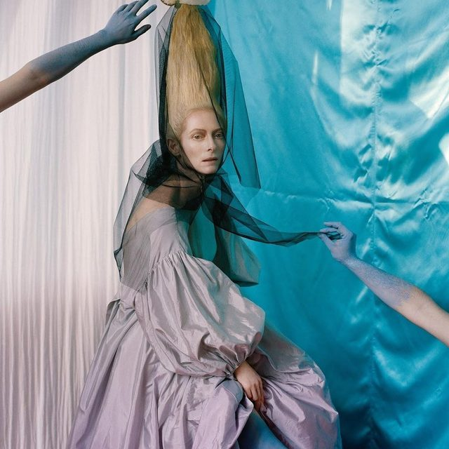 "Is that a shell on your head, or are you just excited for tomorrow's #MetGala? At the link in bio, get in the mood for this year's theme with more of the ""campiest"" images from the pages of W. - Tilda Swinton by Tim Walker Styling: @kjeldgaard1 W magazine, April 2013"