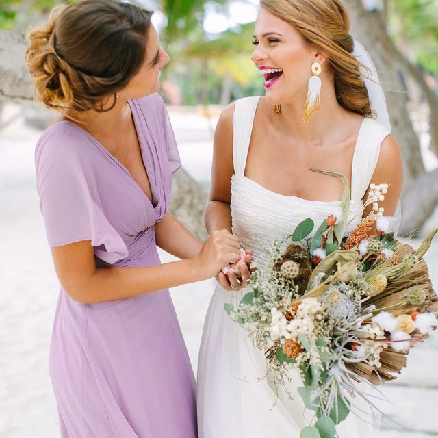"""""""A good friend knows all your best stories, but a best friend has lived them with you."""" Make your maid of honor stand out in a Kleinfeld Bridal Party dress 💖  Photo: @JacquiCole 