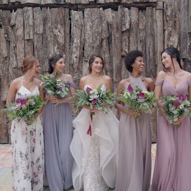 Daydreaming about the perfect wedding day with the perfect bridal party. Tag your #bridetribe below! | Video: @lerevefilms | Planning: @tropical_os  |  Bridesmaid Fashion: @kleinfeldbridalparty | Wedding Dresses & Bridal Accessories: #Kleinfeld | Floral Design: @vanessajaimesfloraldesign | Groomswear: @theblacktux | Venues: @casamalca | H&MU @stylingtrio | Photo: @JacquiCole