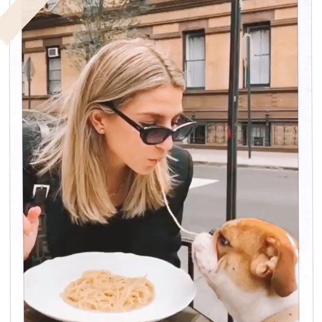 love at first sight 🍝🐶 @cassdimicco in the Alyx Shades - link in bio to shop #mymymy
