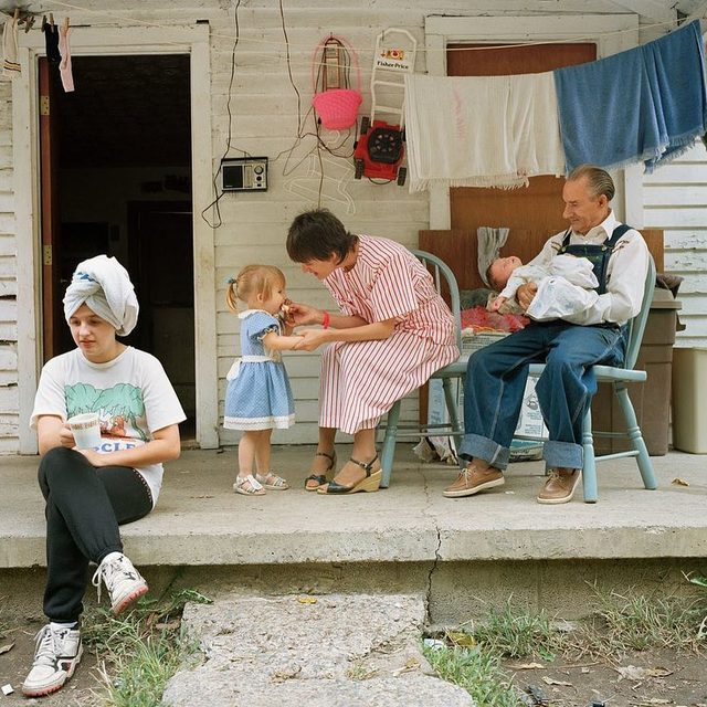 """For two and a half decades, the photographer Sheron Rupp traversed the United States, lingering in rural towns. She would spot something that interested her—kiddie pools, bird houses, bicycles—and pull over to the side of the road, sparking conversations with whomever she encountered. Tap the link in our bio to see more photos from her new book, """"Taken From Memory."""" Photographs by Sheron Rupp."""