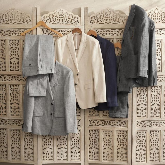 Linen suit separates. Breezy. Cool. Collect them all.