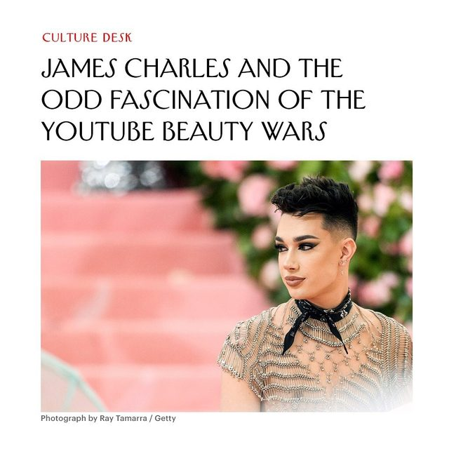 At the link in our bio, an anthropological look into the oddly fascinating drama unfolding between the YouTube celebrities James Charles and Tati Westbrook.