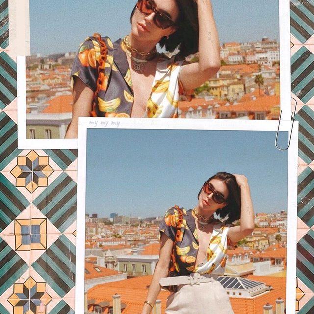 hiiii from Lisbon 🍊🍋 @brittanyxavier wearing the Jaymes Sunnies - link in bio to shop #mymymy #revolvearoundtheworld