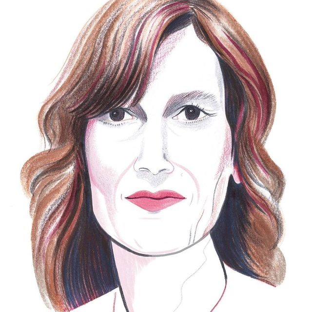 """In 1988, Joanna Hogg began sketching ideas for a multi-part film that would tell the story of her adolescence. Thirty years later, it has also become the epic story of her interior development as an artist. Tap the link in our bio to read about her new movie, """"The Souvenir,"""" and her long path to self-expression. Illustration by @eleanorsvisions."""