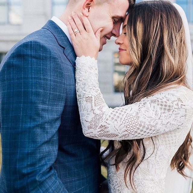 """Some hearts understand each other, even in silence."" ♥️ (tap to shop the Tenley Gown 