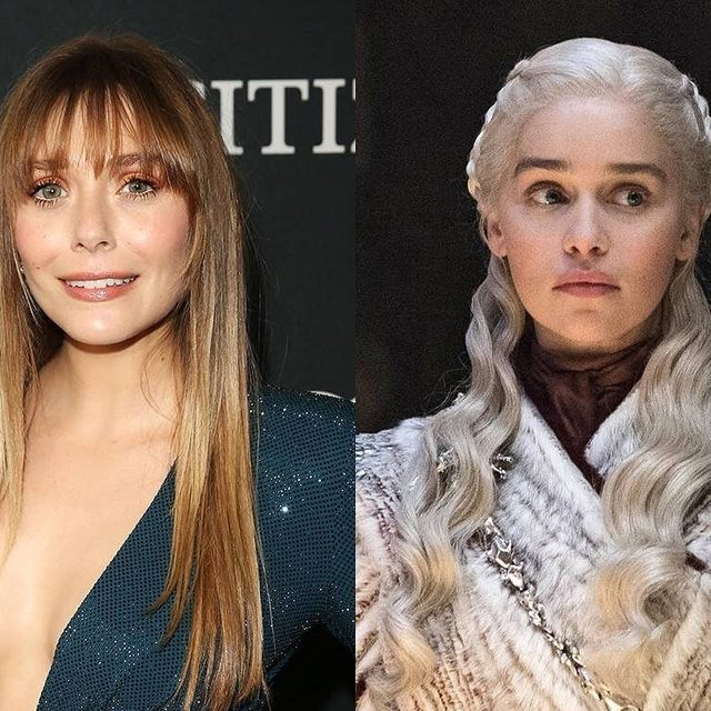 """You might not Wanda believe it, but #GameofThrones could've looked a lot different if Elizabeth Olsen was cast as Khalessi...Link in bio for her recount on the """"most awkward audition"""" she's ever had. (📷: Getty Images, HBO)"""