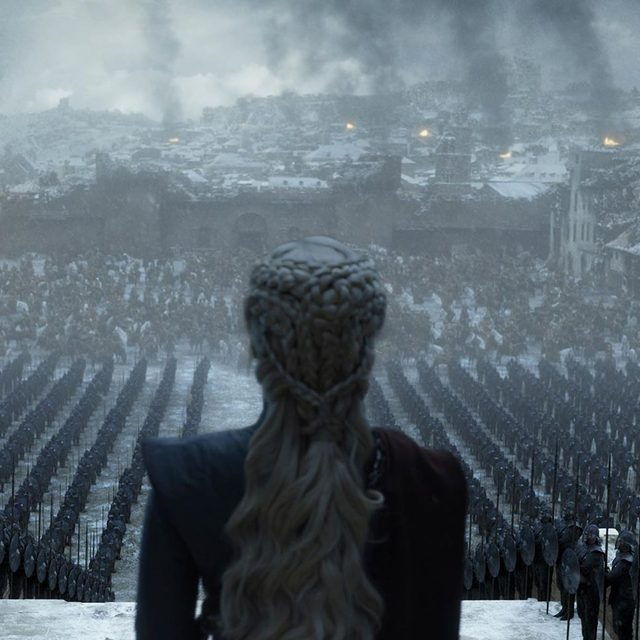 """In the series finale of """"Game of Thrones,"""" the killing was minimal, the writing of books maximal, and the primacy of """"story"""" questionable. Tap the link in our bio to read @asarahlarson's recap. Photograph Courtesy HBO."""
