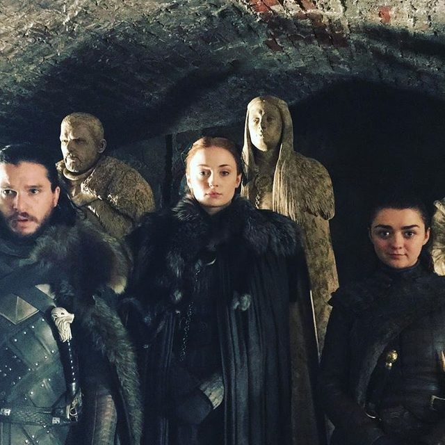 The pack survived. #GameofThrones (📷: @sophiet)