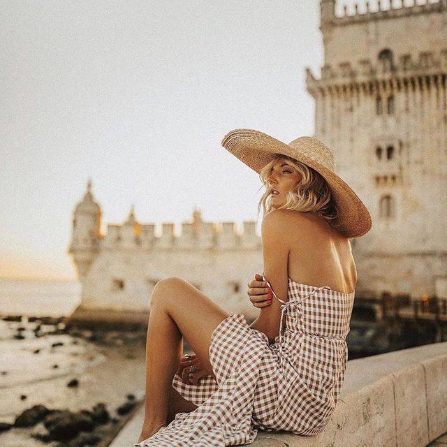 for your permanent vacay ☀️ @tezza in the @songofstyle elsa midi dress #revolvearoundtheworld