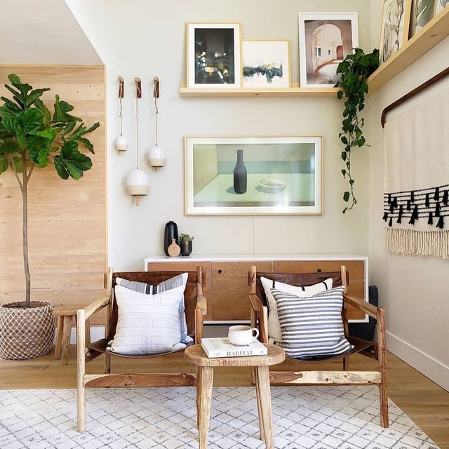 Ready to kick our feet up and relax in this corner that @kismet_house created featuring #MintedArt from @shannonparas + @melanieseverin.