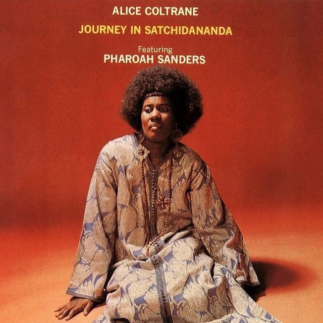"""You should listen to Journey in Satchidananda beginning to end while lying on the ground with your eyes closed, because those are the best conditions for performing the kind of visualization that Alice Coltrane's liner notes request: """"Anyone listening to this selection should try to envision himself floating on an ocean of Satchinandaji's love,"""" she wrote, """"which is literally carrying countless devotees across the vicissitudes and stormy blasts of life to the other shore."""" Read the full review in the bio link."""