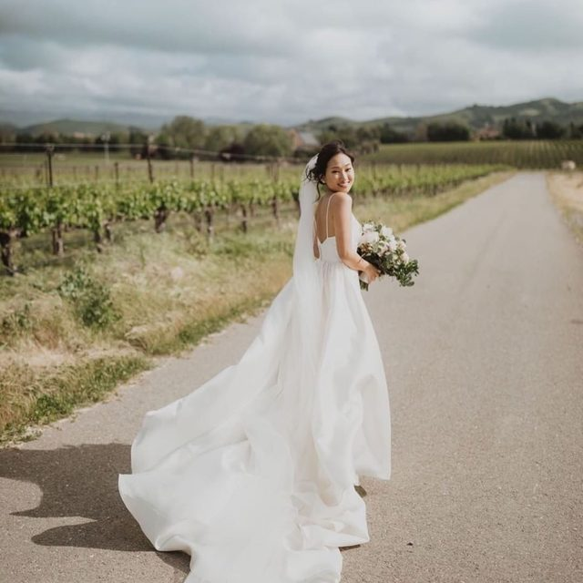 #TFW You're on your way to your ceremony! (tap to shop the Opaline Ballgown | #BHLDNbride @mcwanger 📷: @megs_marvels)