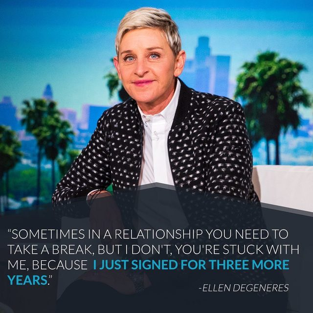Despite rumors, Ellen DeGeneres isn't going anywhere anytime soon. Download our app at the link in our bio for the latest celebrity news! (📷: Getty Images)