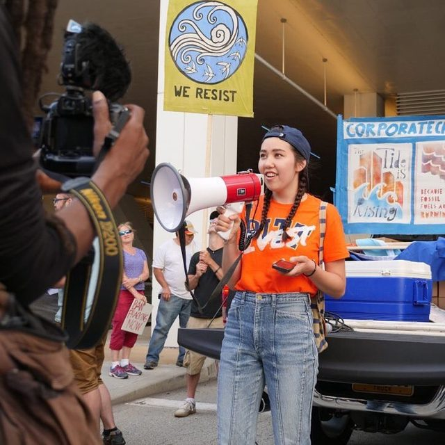 """As politicians begin to realize that young climate activists are going to vote, """"there's a new sense of urgency,"""" says 21-year-old @anais_sgb. And she's not afraid to ask them to do what's right 💪  Once described as """"hell with the lid off,"""" Pittsburgh has long been a hub of industrial activity—and the pollution that comes with it. This resident is determined to change its reputation.  The Pittsburgh area still has some of the dirtiest air in the country. And as city officials pledge to make changes, young activists like @anais_sgb are holding them to account 🌍 Read more through the link in our bio!  #FridaysforFuture #YouthClimateStrike #EJ #ClimateChangeisReal #APAHM #youth #youthactivism #asianamerican #schoolstrike"""