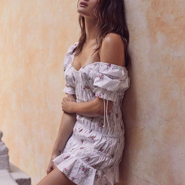 We specialize in outfitting you for beautiful summer romances | The Tarte Eyelet Smocked Dress #summer19