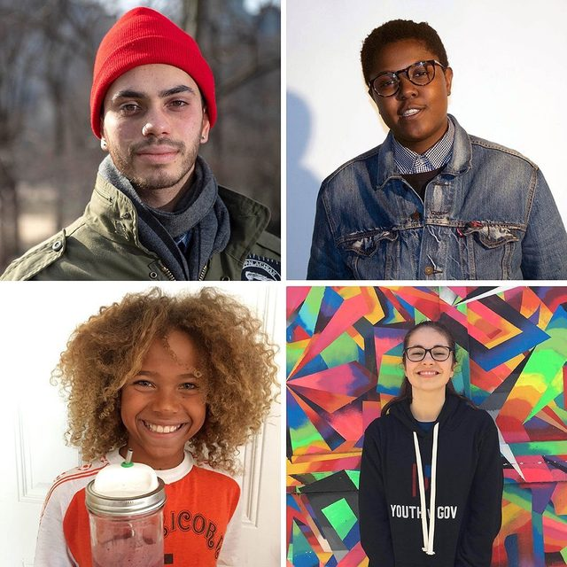 """Meet Kiran, Vic, Sahara, and Levi (clockwise from top left), four young climate activists fighting for a livable future with @youthvgov. With 17 other youth plaintiffs in the Juliana v. United States case, they're arguing that the federal government is violating their constitutional right to life, liberty, and property by taking actions that have knowingly contributed to the climate crisis for more than five decades. But their work as climate activists goes beyond the courtroom. Kiran, 22, is both a musician and member of a collective that organizes concerts to spread awareness of environmental and social justice issues. The singer Patti Smith is one of his biggest inspirations, """"because she didn't compromise in her goal of making art."""" @connectwithlevi, 11, helps with beach cleanups, eats vegan, and picks up trash on walks with his family. """"I fight for what I stand for and don't give up,"""" he says. """"I've also learned to give speeches and talk to adults about something I understand better than they do!"""" The cl"""