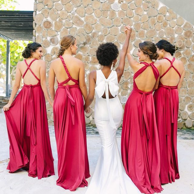 Yes - these are all the same dress! Click to take a look at our 12-in-1 convertible bridesmaid dress 😍