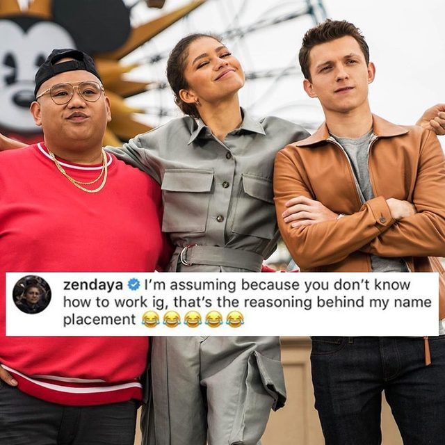 That time Tom Holland tagged Zendaya as his crotch always gets our spidey sense tingling. 💀 Swipe right. (📸: @tomholland2013)