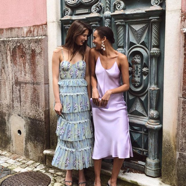 "What we call ""good-mood dresses"" 😊 #SummerofShopbop"