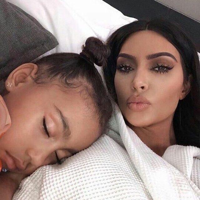 It's exhausting Keeping Up With the Kardashians. 💖 Happy birthday, North West! (📸: @kimkardashian)