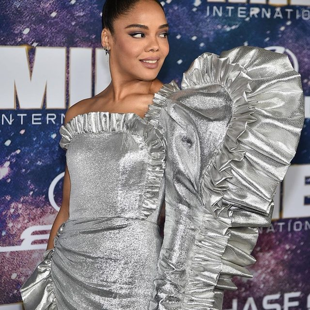#TessaThompson's futuristic #Rodarte gown tops this week's #bestdressed list. Link in bio for the rest of the winners. 🚀