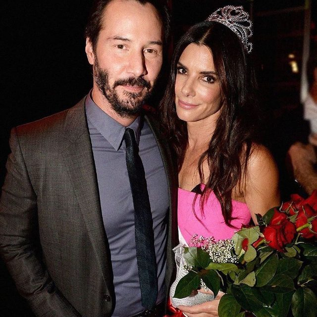 Sandra Bullock reacted to the internet's love for Keanu Reeves in the sweetest way ever, and revealed if she would ever reunite with her former co-star for a #Speed reboot. Link in bio. (📸: Getty Images)