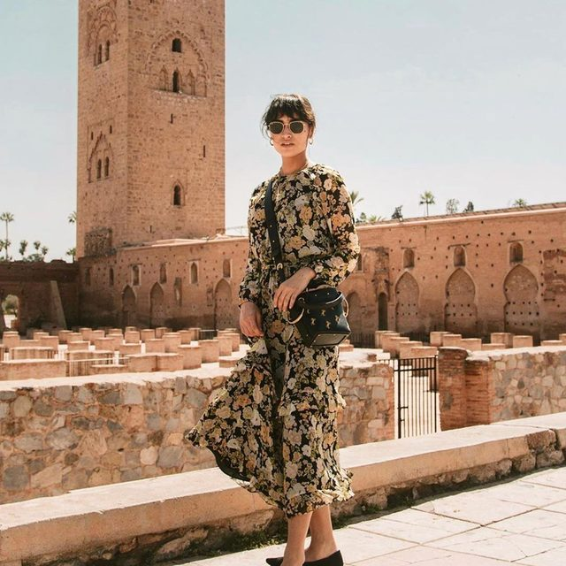 @caitlinmiyako rocking our comfy, classic Black Point in Marrakech. #rothysinthewild
