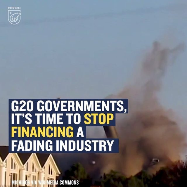 Ten years ago, G20 governments pledged to stop subsidizing fossil fuels. It was a bold and honest acknowledgment of the outsize role that fossil fuels play in wrecking the global climate. But for too many leaders, it was all talk. G20 subsidies for coal-fired power plants—one of the worst contributors to climate change—are on the rise, having more than doubled between 2014 and 2017. Total coal subsidies are now $64 billion a year—all for an industry that provides a shrinking number of jobs, pollutes the air, and exacerbates the climate crisis. Learn more by visiting the link in our bio, and swipe right to watch this video en español!  #g20 #fossilfuels #coal #climatechange #cleanenergy