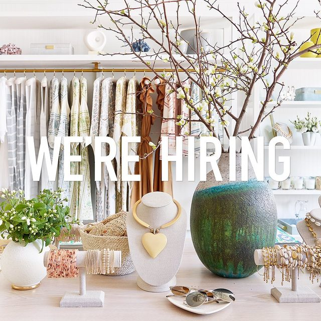 We are hiring. The AERIN team is looking for a Director of Merchandising with 5+ years of experience. Please inquire at careers@aerin.com or visit the link in bio for more information.