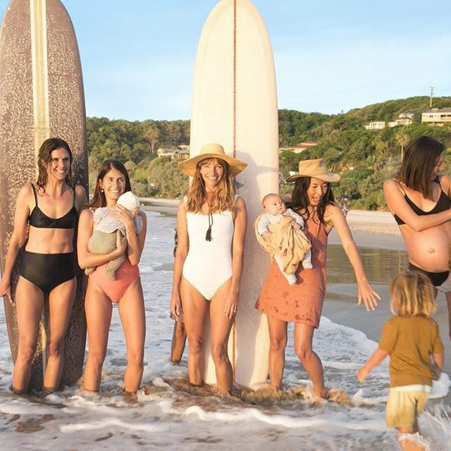 In 2011, Courtney Adamo set up her Instagram account to share photos with her family. Today, the mother of five has a quarter of a million followers and a seemingly perfect life. But can it be real? At the #linkinbio, Adamo and the surfing mamas of Byron Bay take V.F. inside their idyllic world. Photographs by: @tierneygearon  Story by: @carina_chocano