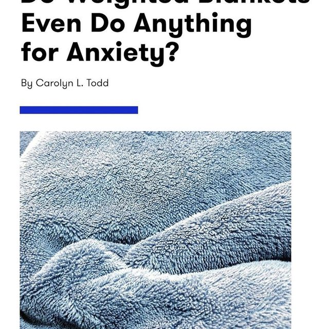 Weighted blankets are known for making being smothered feel good. But do they actually work to calm symptoms of anxiety? We investigated the popular claim at the link in bio.