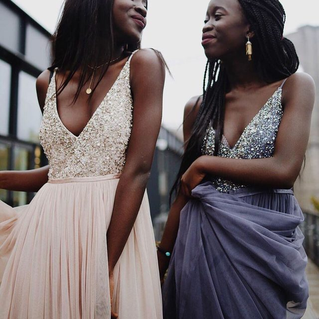 Ethereal tulle meets show-stopping sequins. (tap to shop the Avery Dress | 📷: @cas.tle #BHLDNBridesmaids: @nycxclothes)